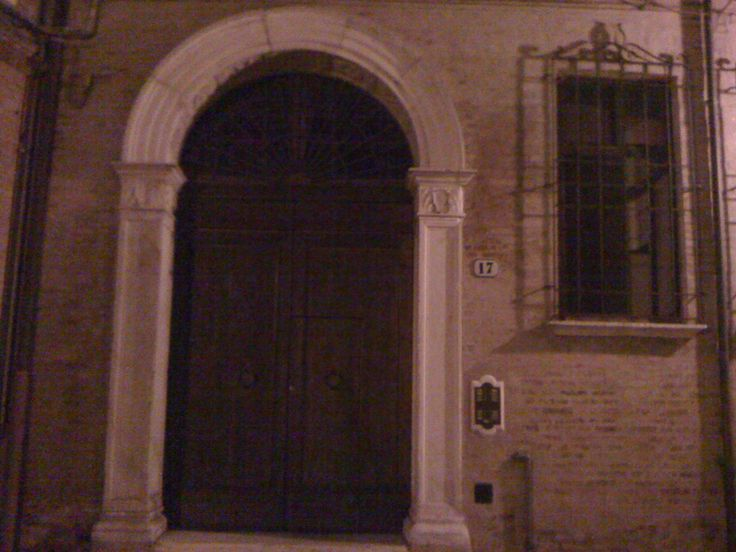 A front door in the night - Ferrara