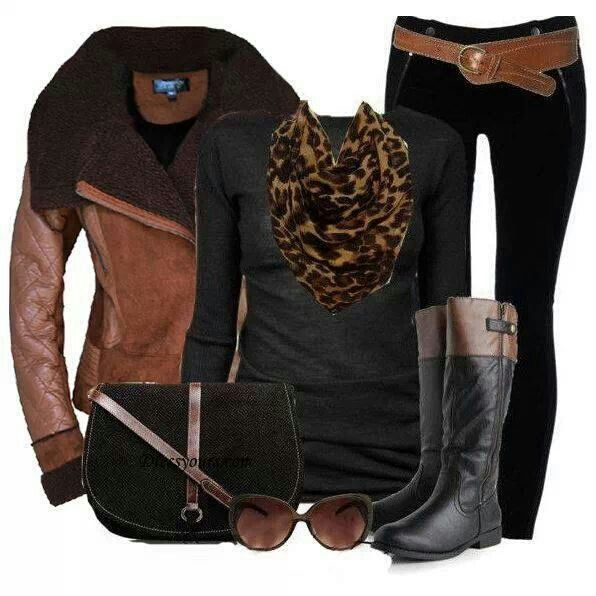 Black and brown fashionable, headed to my closet, because I have pieces like these, down to the two tone riding boots in there! thank you www.lolomoda.com for the style inspiration!
