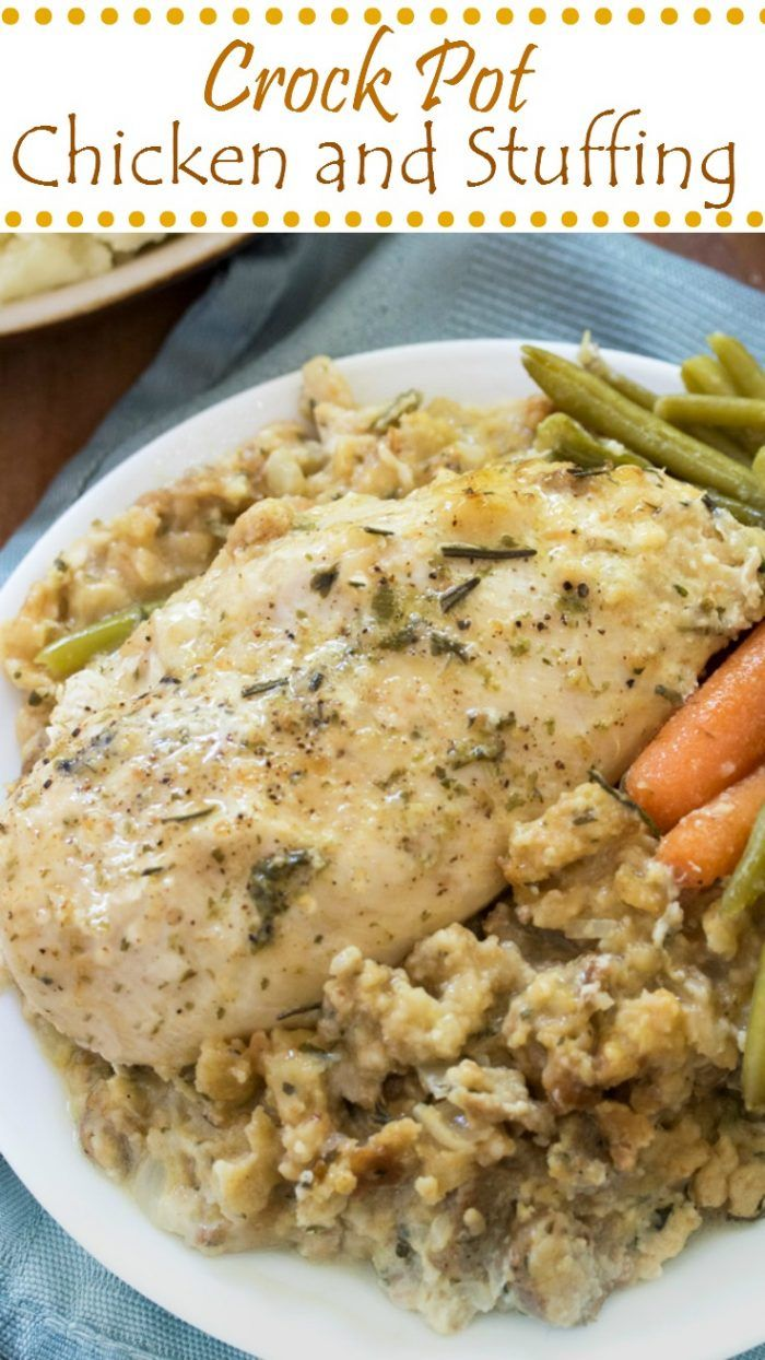 Crockpot-chicken-and-stuffing