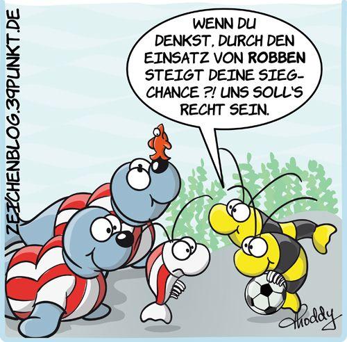 Bayern München Garnelen mit See Robben gegen BVB Garnelen