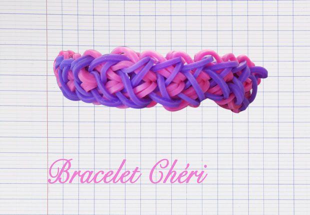 Un triple bracelet lastique rainbow avec le monster tail - Comment faire un bracelet avec des boutons ...