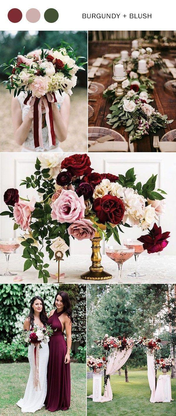 Burgund und erröten Hochzeit Farbideen für 2019