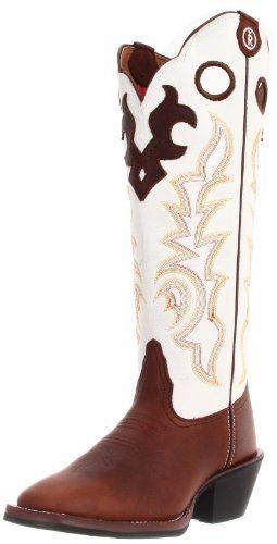 Tony Lama Boots Women's Beige Mustang Buckaroo RR2007L Boot   Ladies Cowboy Boot Roundup