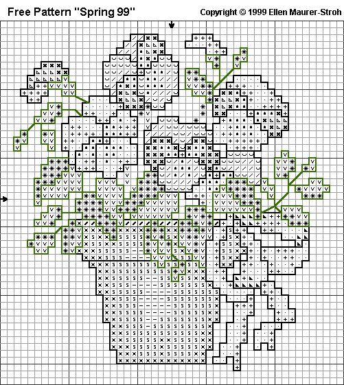 "Free Cross Stitch Pattern ""Spring 99"" - Symbolchart"