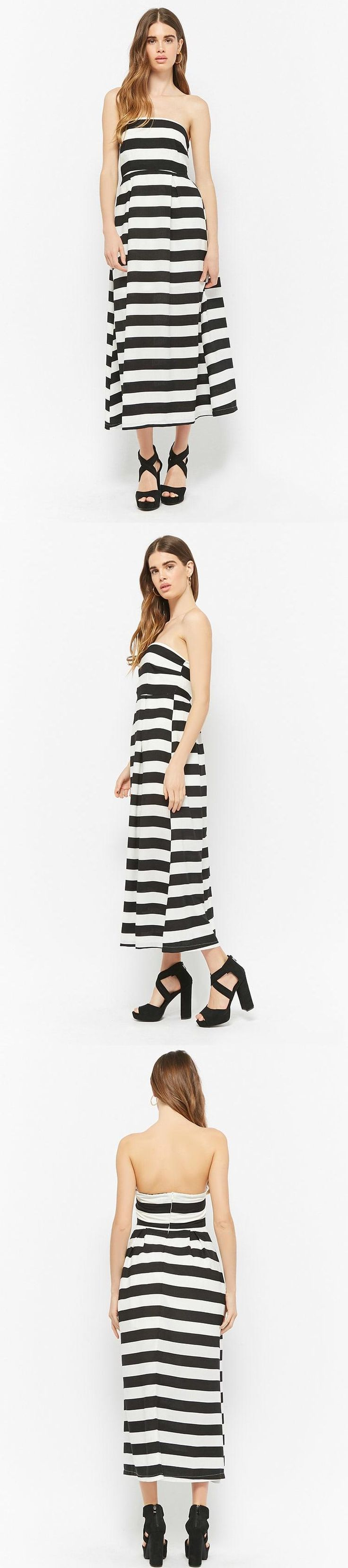 Striped Tube Maxi Dress // 38.00 USD // Forever 21