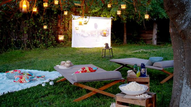 Create an outdoor cinema in your own backyard. Photo from Eco Outdoor http://www.ecooutdoor.com.au/