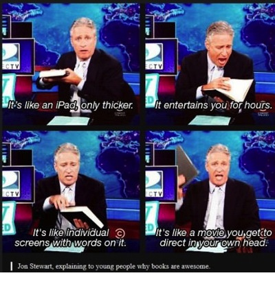 What a book is – by Jon Stewart