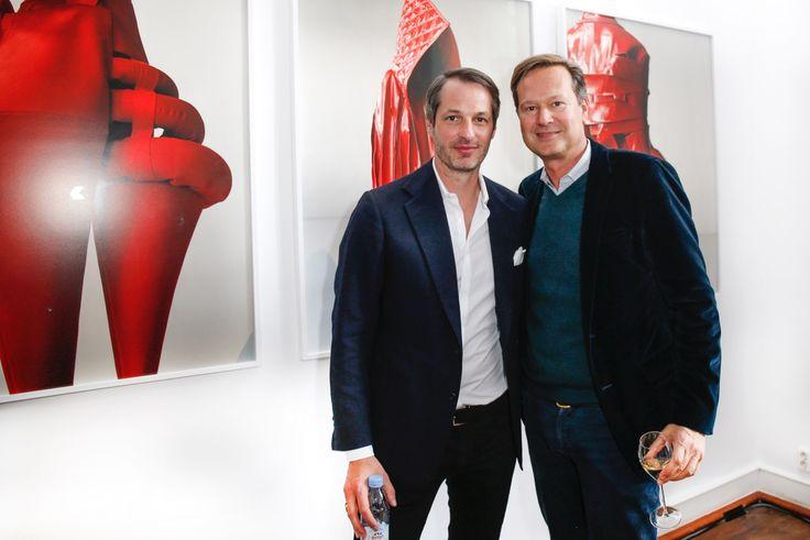 Veranstalter Marcus Kurz und Philipp Wolff von Hubert-Burda-Media freuen sich über einen erfolgreichen Berliner Mode Salon © Isa Foltin