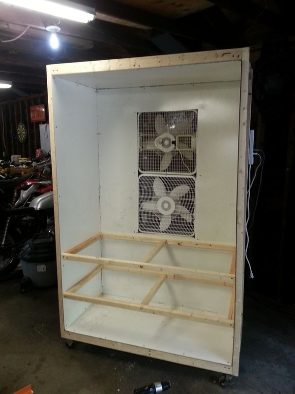 My DIY Powder Coating Booth - Custom Fighters - Custom Streetfighter Motorcycle Forum