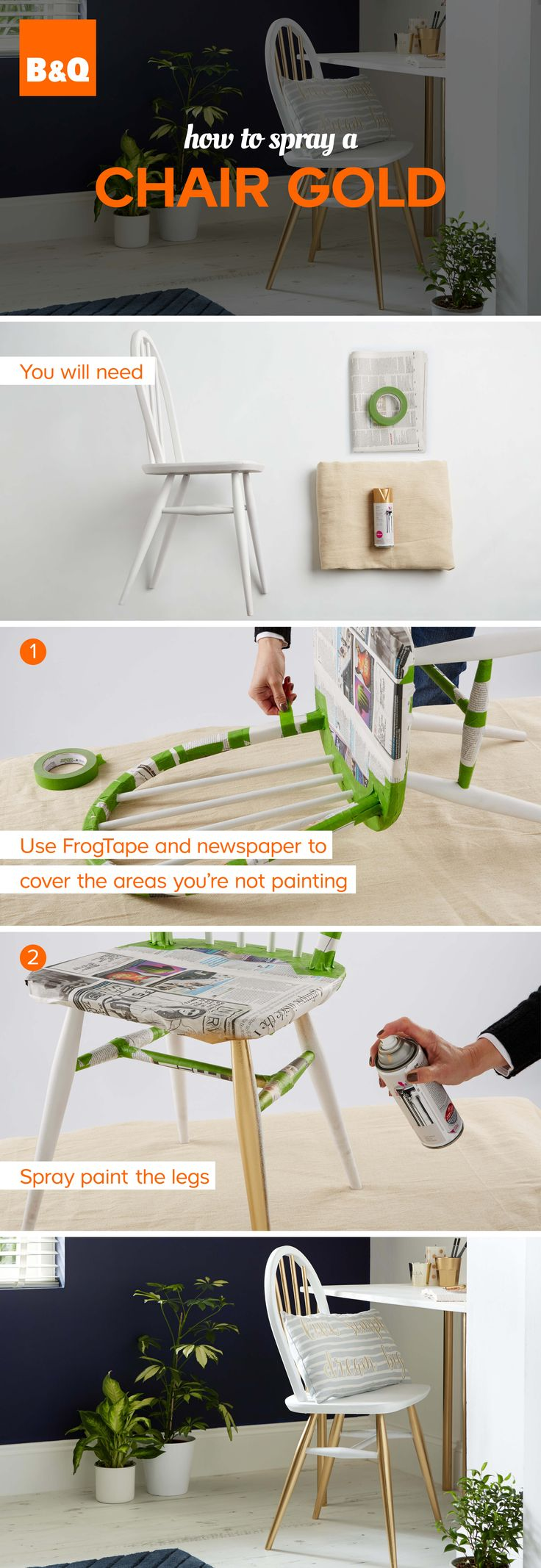 25+ unique Spray paint chairs ideas on Pinterest | Painting kitchen chairs,  DIY furniture fix and Spray painted furniture