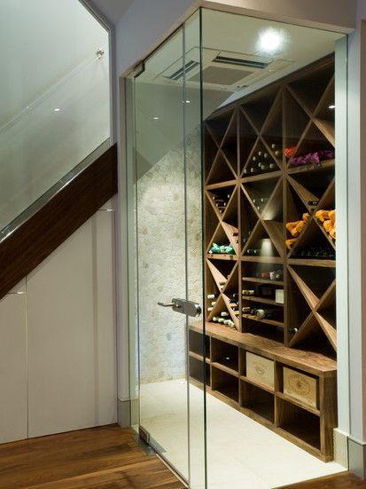 Battersea London Residence   Basement Build, Contemporary Wine Cellar, London