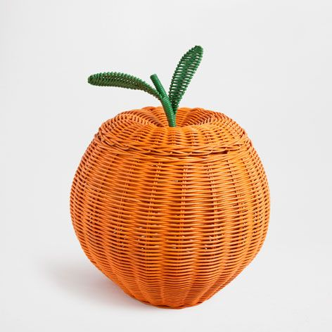 Orange shaped basket baskets decoration zara home for Decoration 640