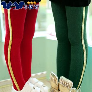 2013 new autumn childrens clothing baby girls striped leggings stitching children long pants t0156 only $9.31USD a Piece