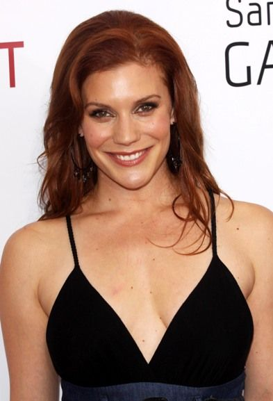 Katee Sackhoff// red, wavy hairstyle