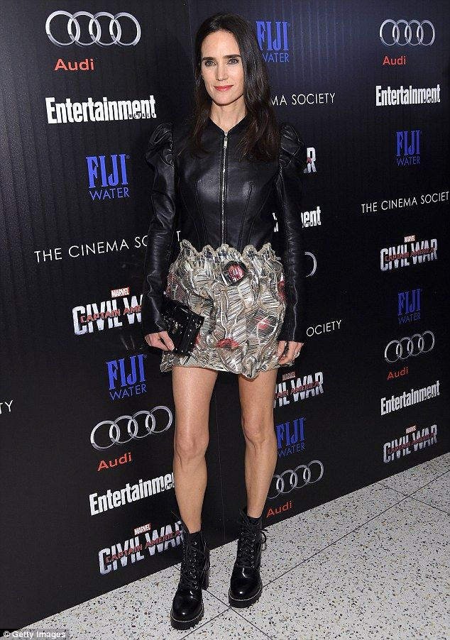 Much younger than her years!Jennifer Connelly, 45, arrived at the Captain America: Civil ...