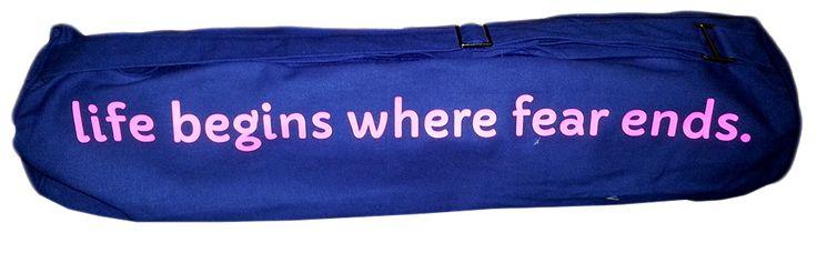 Bag Colour - Dark Blue, Font Colour - Flourescent Pink, Font - Capriola