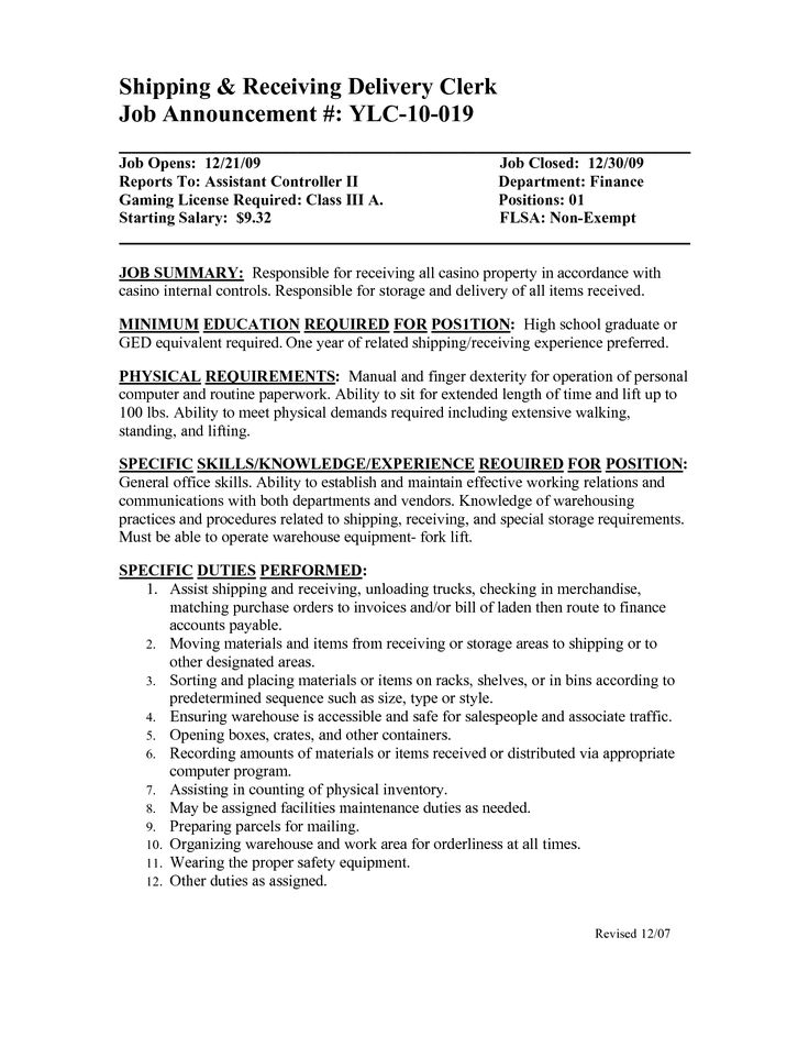 Shipping Clerk Resume Nice Successful Professional Affiliations
