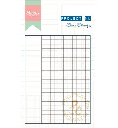 Marianne Design Project NL Clear Stamp - Ruitjes papier