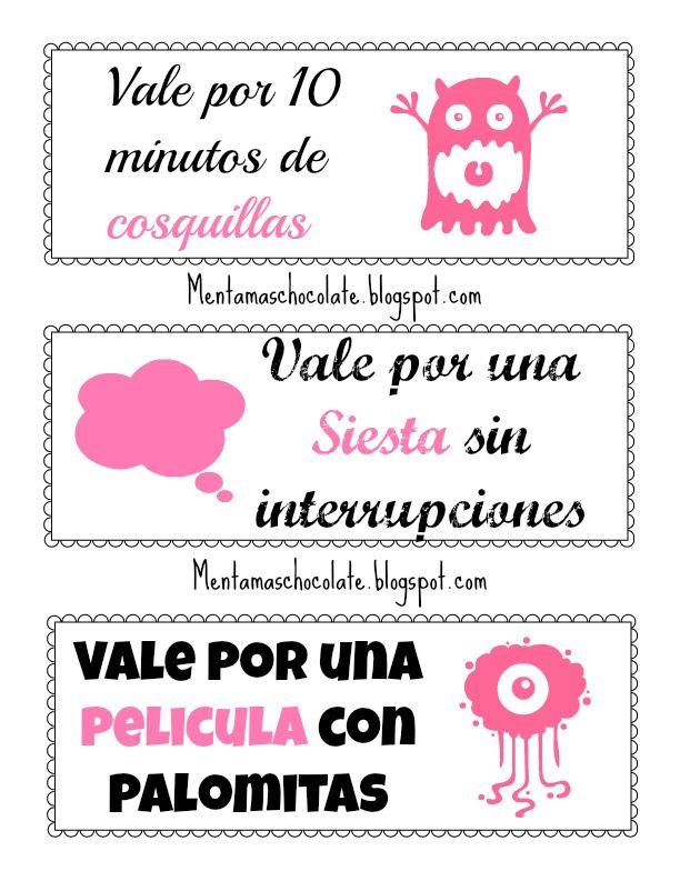 Menta Más Chocolate - RECURSOS PARA EDUCACIÓN INFANTIL: VALES para el DÍA de la MADRE