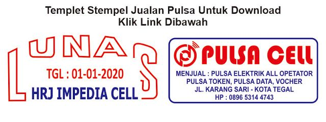 Contoh Stempel Jualan Pulsa Stempel Toko Pulsa Download Contoh Stempel Format Cdr Pdf Brosur Desain Logo Kartun Lucu