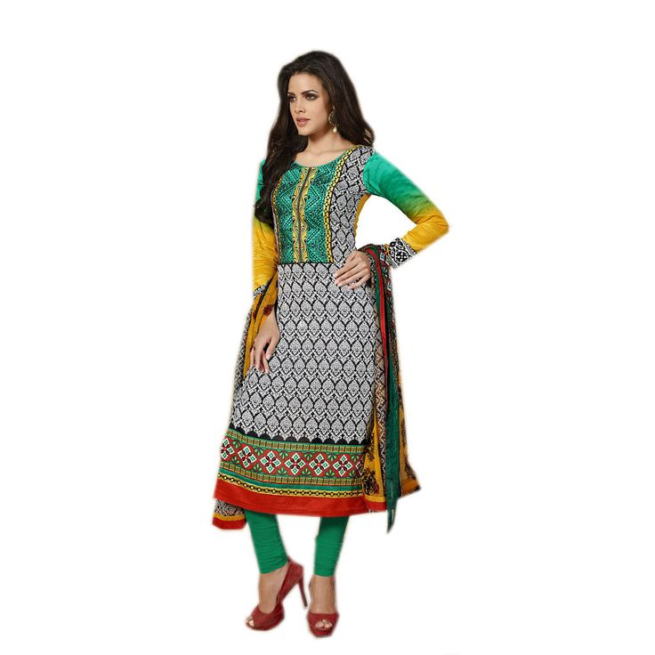 New Indian Ethnic Fancy Designer Printed Salwar Kameez Cotton Dress Material #Unbranded #IndianStraightsalwarSuit