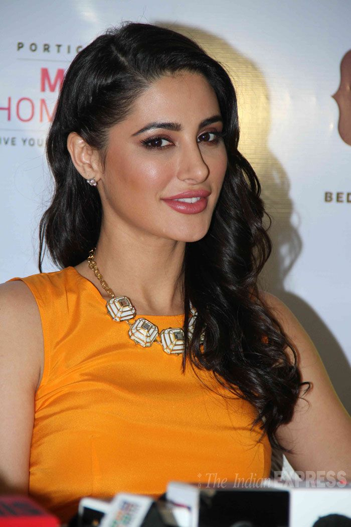 Nargis Fakhri at the launch of home styling brand Portico New York's 'Mission Home Fashion' in Mumbai. #Style #Bollywood #Fashion #Beauty