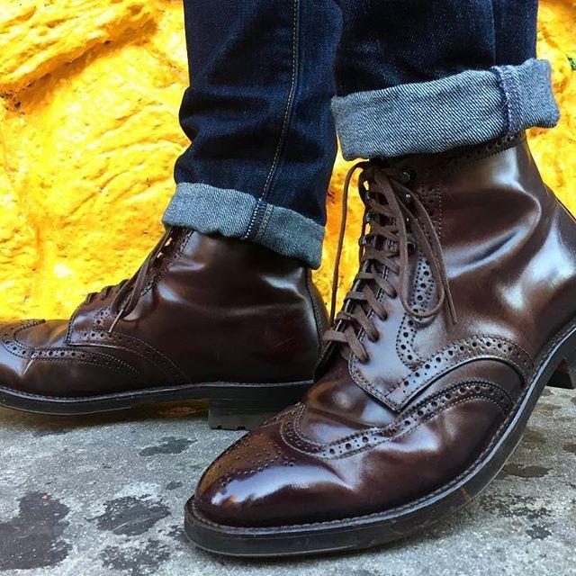 Half Brogue Shoe Mens Wedge Sole