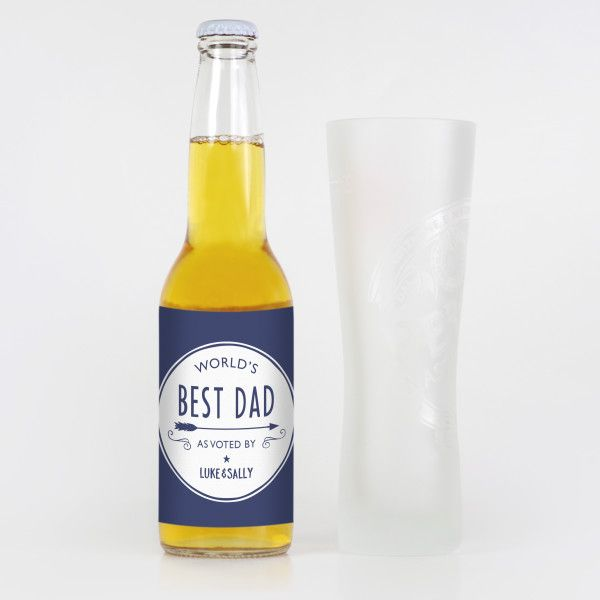 Personalised World's Best Dad Beer Labels