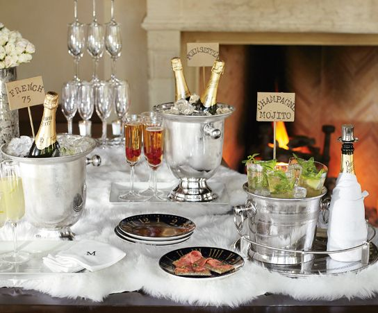 champagne new year includes tips on setup basics cocktail recipes new years pinterest. Black Bedroom Furniture Sets. Home Design Ideas