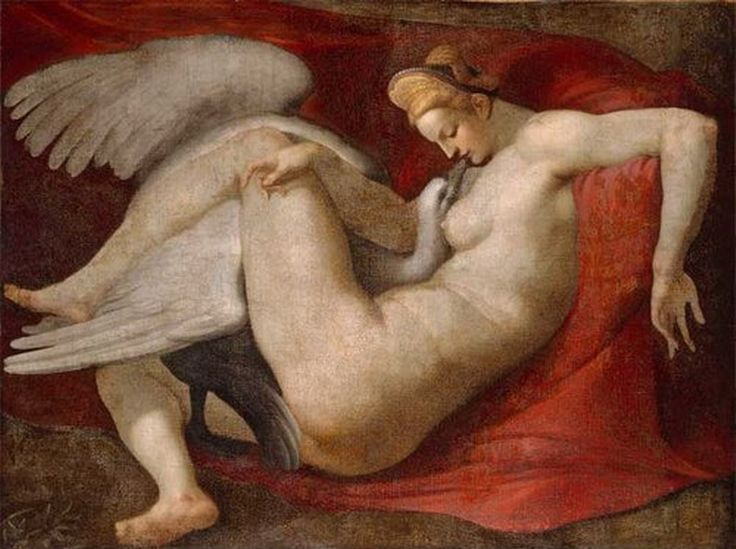 Copy of Michelangelo's lost Leda and the Swan
