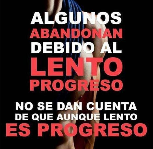 Algunos abandonan debido al lento progreso no se dan cuenta de que aunque es…