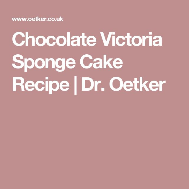 Chocolate Victoria Sponge Cake Recipe | Dr. Oetker