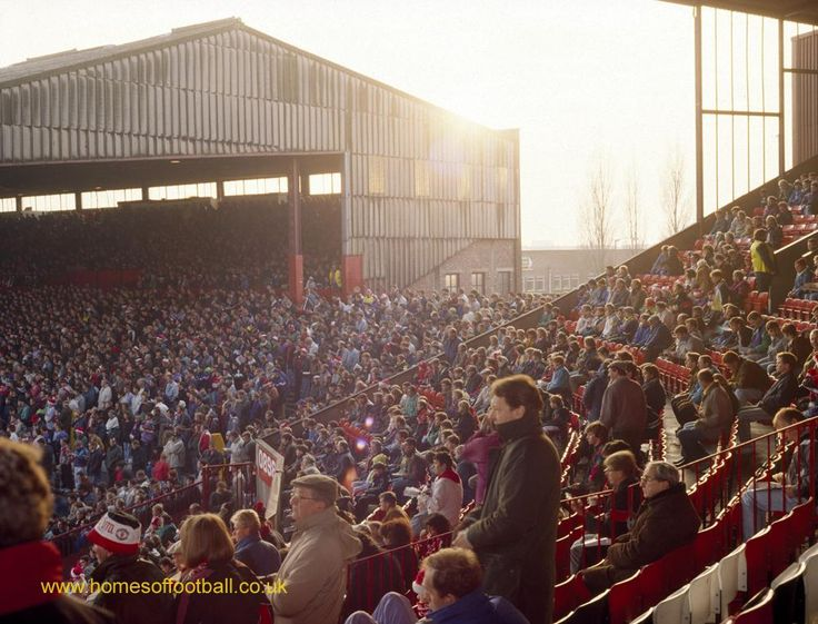 Stretford End in the sunset, Manchester United,England year1991 by Stuart Roy Clarke #mufc #BPLKickOff #ollyofficial