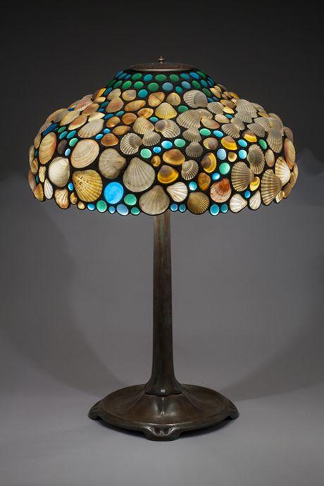 "Desiree Gillingham, www.ShellShades.com Seashell Lighting and Sculpture.  ""Coral Gables"" 19"" x 19"" x 26"""