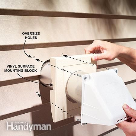 how to install the vent exterior wall
