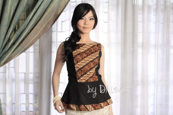 Batik peplum top | Dewi Kunthi Parang Top | DhieVine | Redefine You