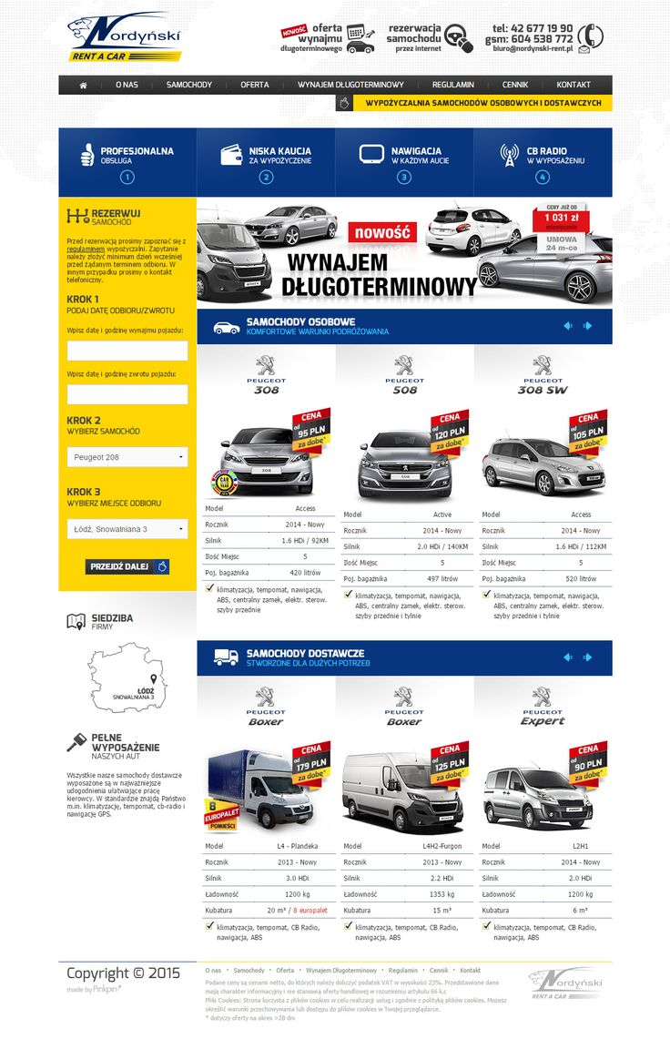 rent a car web design