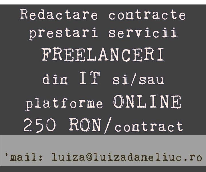 contracte freelanceri redactare
