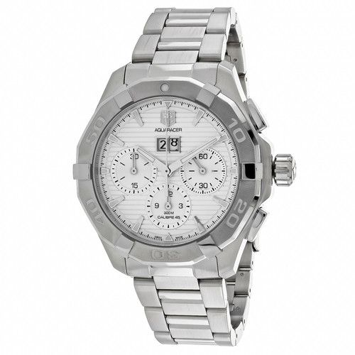 Tag Heuer Men's Aquaracer Automatic Silver Band Silver Dial