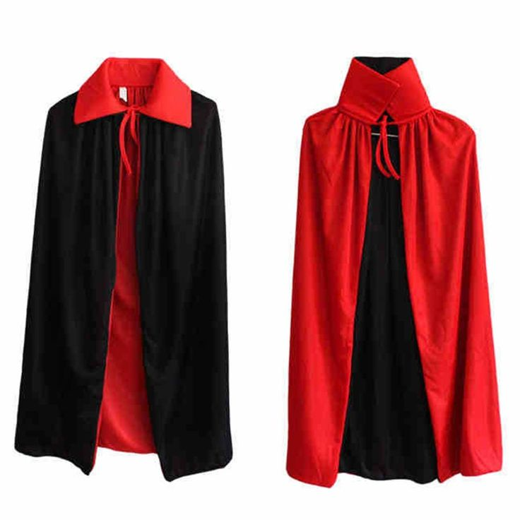 Halloween witches collar black and red cape cloak vampire cape worn on both sides of the double cloak 1.4m