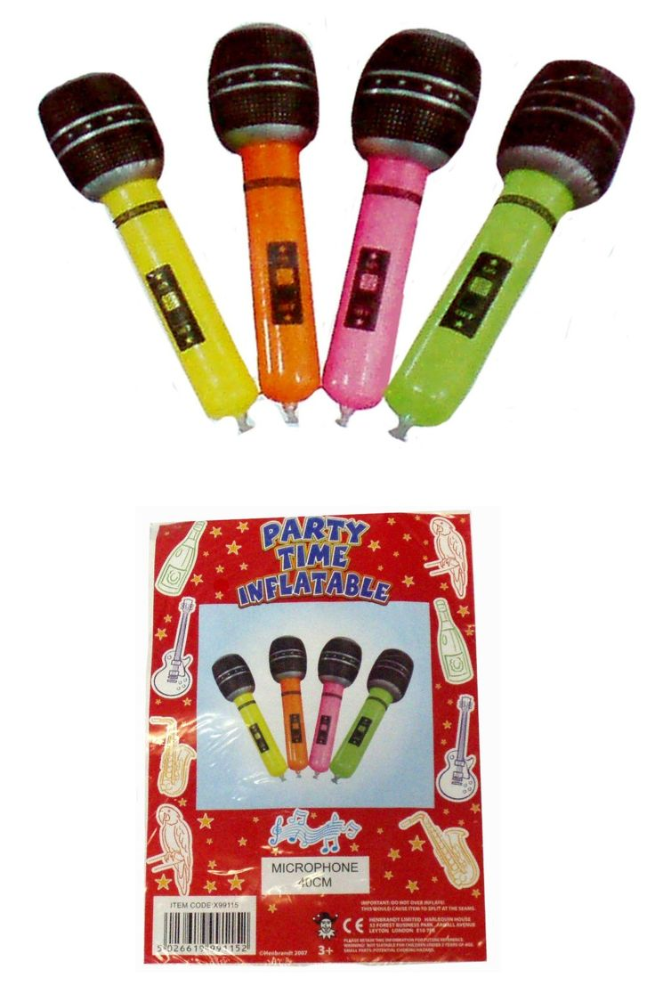 4 Inflatable Microphone Party Accessories: Amazon.co.uk: Kitchen & Home