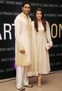 Z Fashion Trend: ABHISHEK AISHWARYA IN OFF WHITE DESIGNER DRESS