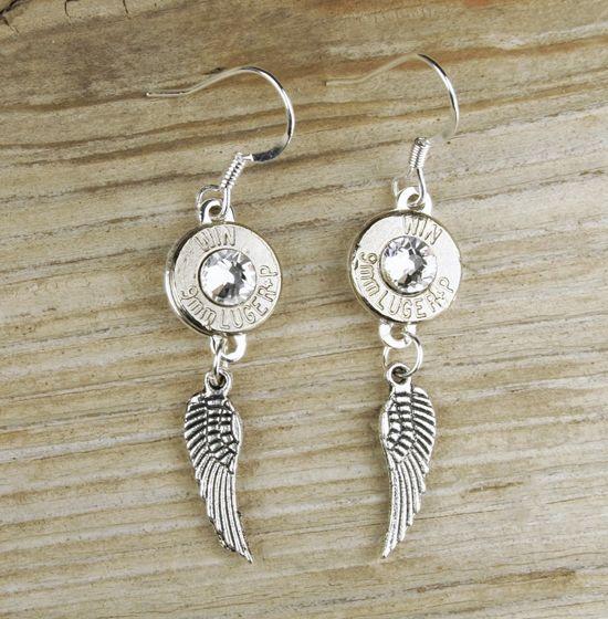 Nickel Bullet Wing Earrings