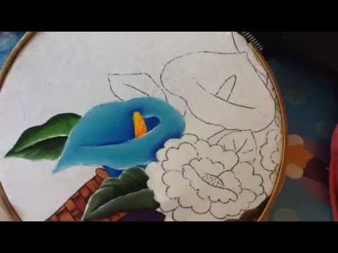 Pintura en tela vendedora de flores # 6 con cony