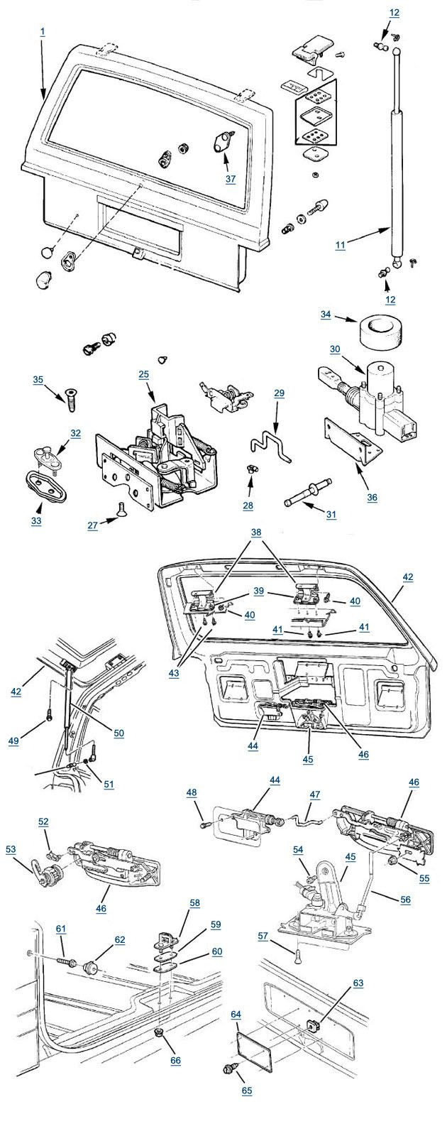 44 best cherokee diagrams images on pinterest jeep cherokee xj cherokee liftgate parts asfbconference2016 Images
