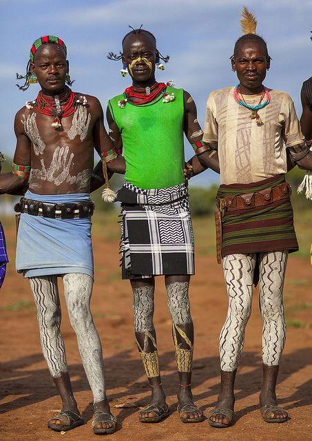 ORIGIN. 'Bashada Tribe Warriors from Dimeka, Omo Valley, Ethiopia' by Eric Lafforgue.