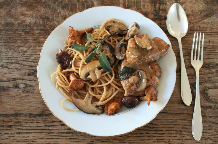 Kalfsvlees met marsala, paddenstoelen en pasta | Violet Kookt!
