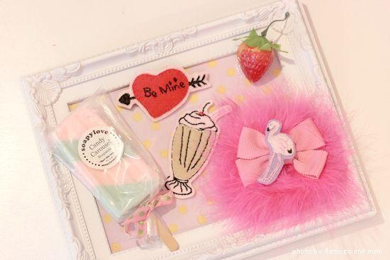 ミルクシェイクとピンクフラミンゴ*刺繍アクセの画像 | Flamingo and mimi