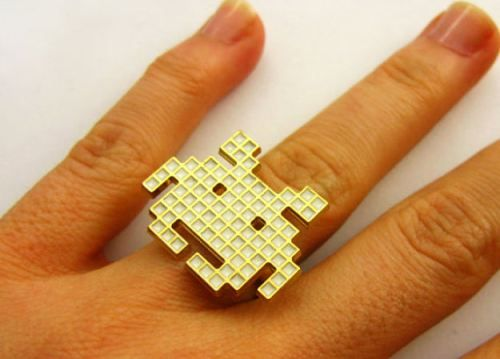 space invader ring.