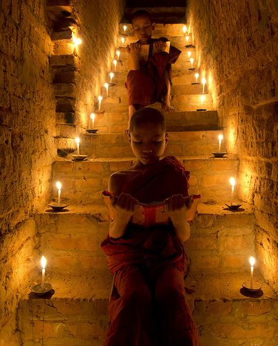 Novice Monks Studying ~ Bagan, Myanmar